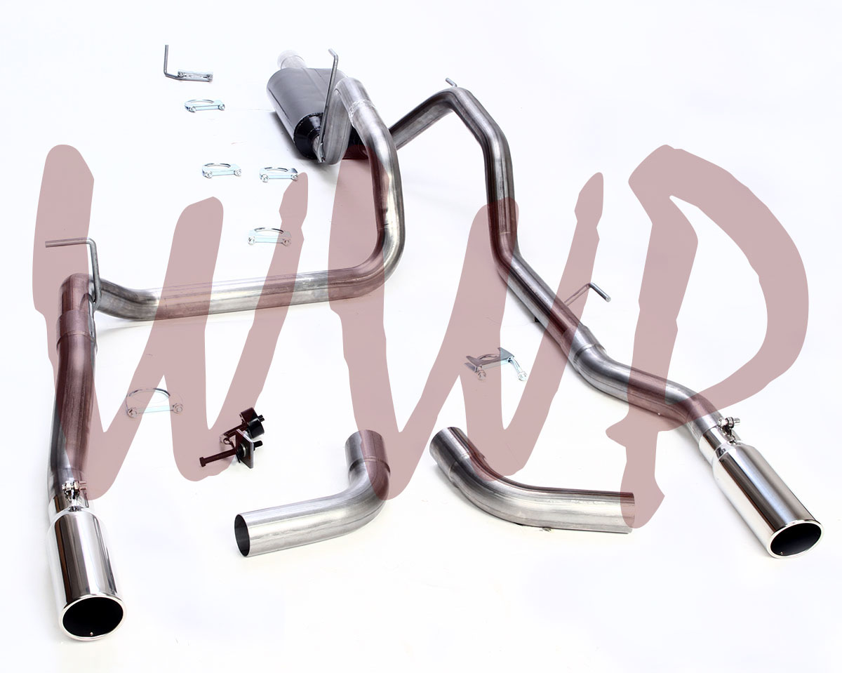 Stainless Dual Split Side Exit Cat Back Exhaust System 09-19 Dodge Ram 1500 5.7L