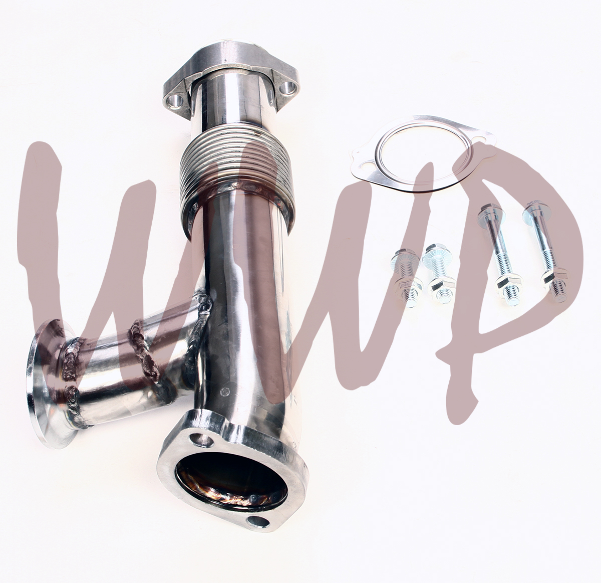 GXP Stainless Steel Performance Exhaust Manifolds /& Gaskets Compatible with 2003-2007 Ford 6.0 Powerstroke Diesel